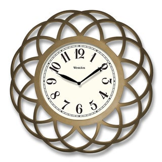 "Westclox 14"" Gold Satin Finish Spiral Wall Clock"