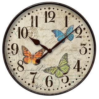 "Westclox 12"" Butterfly Dial Wall Clock"