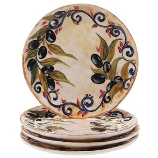 "Certified International Umbria 8.5"" Salad/Dessert Plates (Set of 4)"