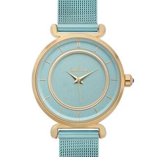 Charles Latour Women's Biro Pastel Dial Watch with Blue Metal Mesh Strap