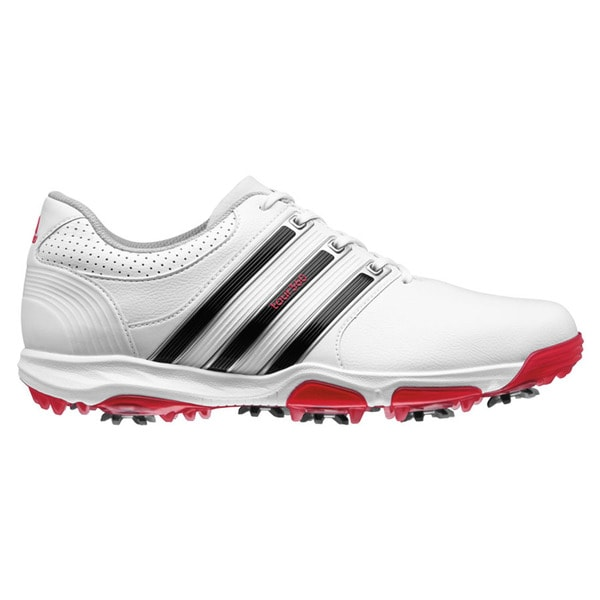 Adidas Men's Tour 360 X Running White/ Core Black/ Red Golf Shoes