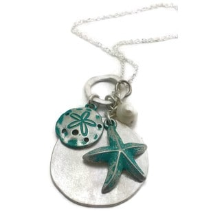 Mama Designs Handmade Sterling Silver Starfish Charm Necklace