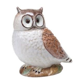 "Certified International Rustic Nature 3-D Owl Cookie Jar 10"""