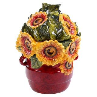 Certified International Sunflower Meadow 3-D Cookie Jar 11""