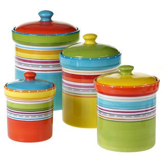 Certified International Mariachi Collection 4 piece Canister Set
