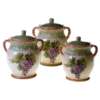 Certified International Sanctuary Wine 3 pc Canister Set