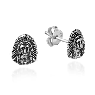 Native American Indian Sterling Silver Post Stud Earrings (Thailand)