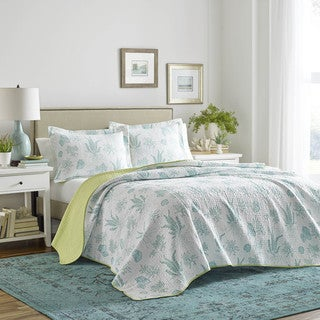 Laura Ashley Cape Coral Cotton Quilt Set