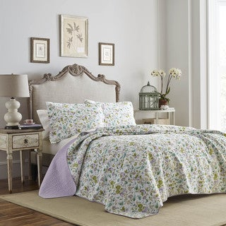 Laura Ashley Morning Gloria Cotton Quilt Set