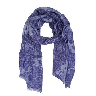 Saachi Women's Lace Print Scarf (India)