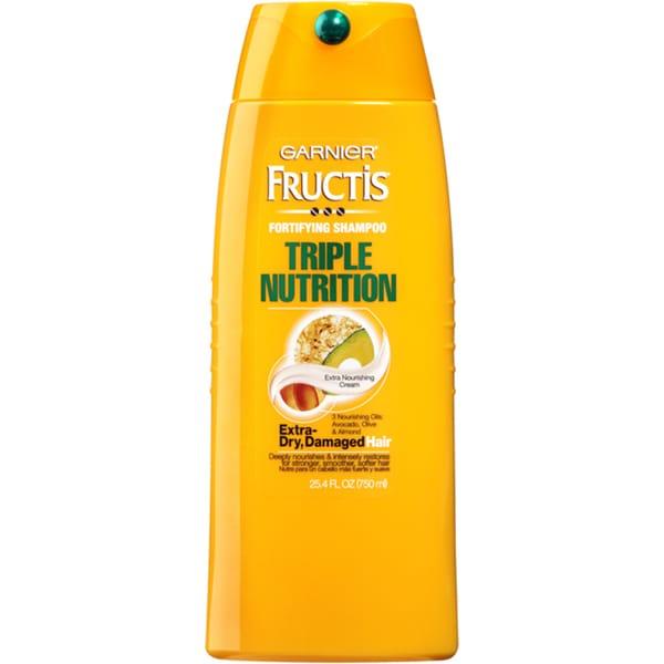 Garnier Fructis Triple Nutrition 25.4-ounce Fortifying Shampoo Extra Dry Damaged Hair
