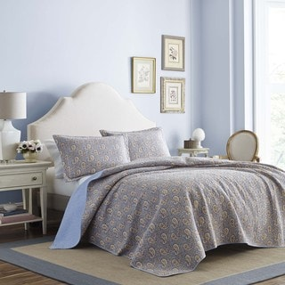 Laura Ashley Katrina Paisley Cotton Quilt set