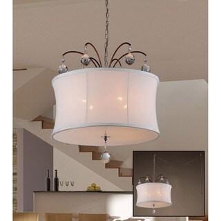Felicity 5-light White Fabric 18-inch Bronze Swag Lamp