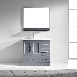Virtu USA Zola 36-inch Single Bathroom Vanity Cabinet Set in Grey