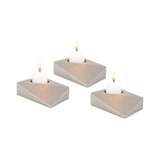 Dimond Home Trope Silver Tea Light Holders (Set of 3)