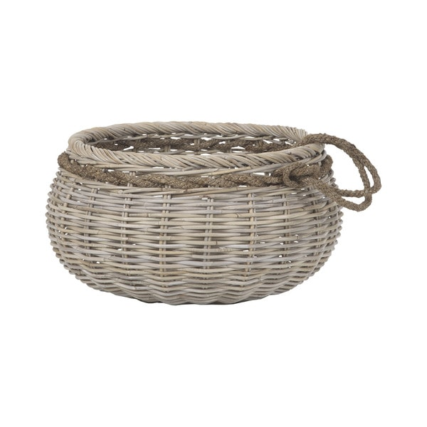 Dimond Home Sumbawa Natural Rattan Basket - Large