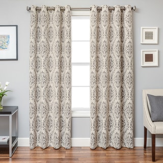 Damascus Damask Grommet Top Curtain Panel