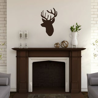 Mounted Buck Head' 14 x 24-inch Wall Decal