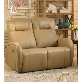 Easy Living Swiss Leather Power Reclining Loveseat with USB