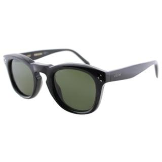 Celine CL 41371 807 Black Plastic Fashion Green Lens Sunglasses
