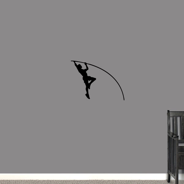 Pole Vaulter Small Wall Decal