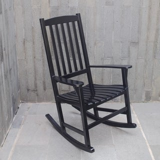 Alston Black Porch Rocker