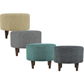 MJL Furniture Sophia Text2Olivia Round Upholstered Ottoman