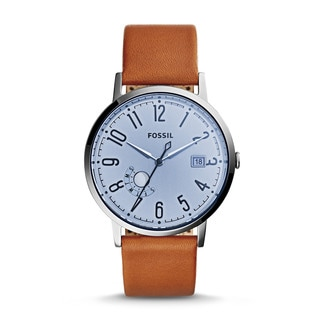 Fossil Women's ES3975 Vintage Muse Silver Dial Brown Leather Watch