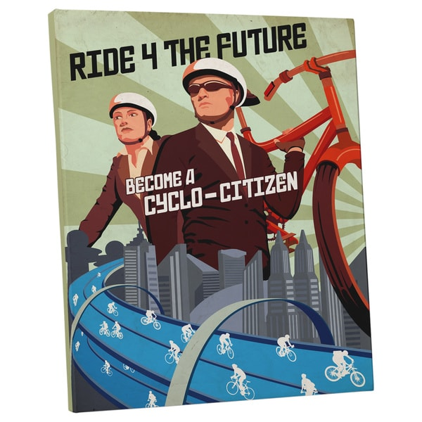 Steve Thomas 'Become a Cyclo-Citizen' Gallery Wrapped Canvas Wall Art