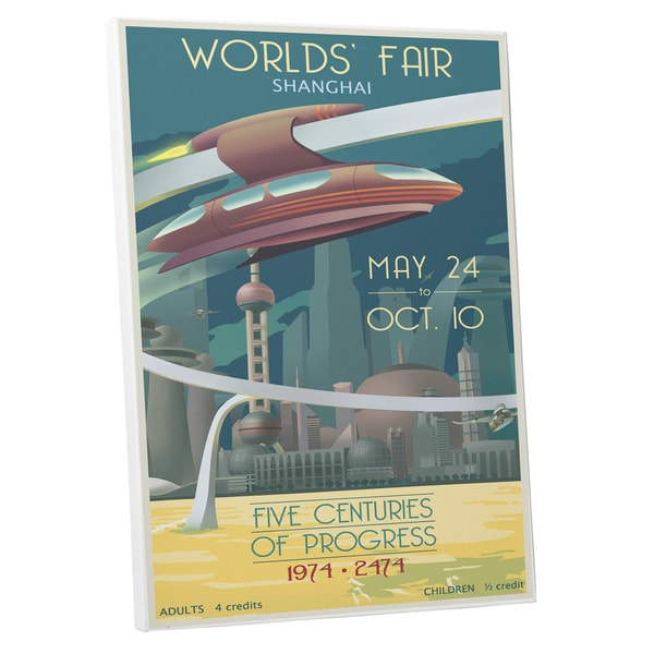 Steve Thomas 'Worlds' Fair Shanghai' Gallery Wrapped Canvas Wall Art