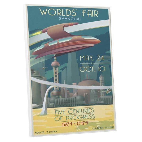 Steve Thomas 'Worlds' Fair Shanghai' Gallery Wrapped Canvas Wall Art