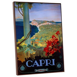 Vintage Apple 'Capri Italia' Gallery Wrapped Canvas Wall Art