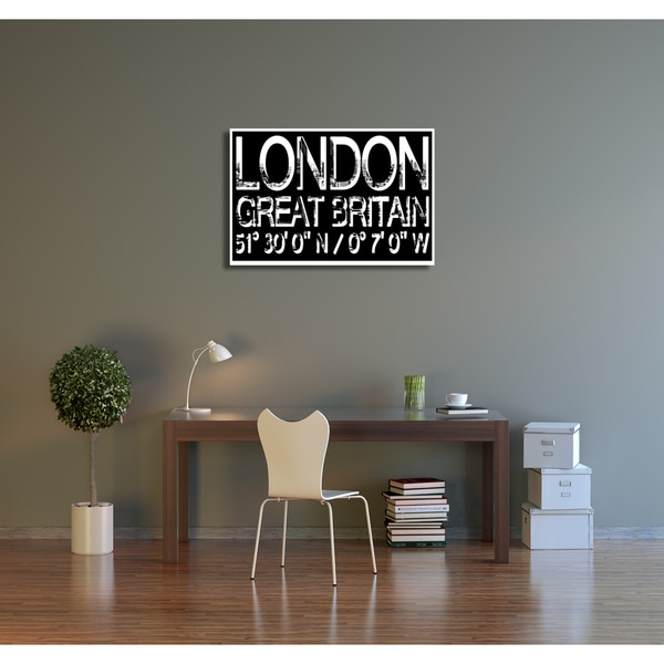 Who Art Now 'London Great Britain' Gallery Wrapped Canvas Wall Art