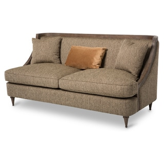 Dallas Wood Trim Sofa by Michael Amini