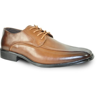 BRAVO Men Dress Shoe MILANO-3 Oxford Brown