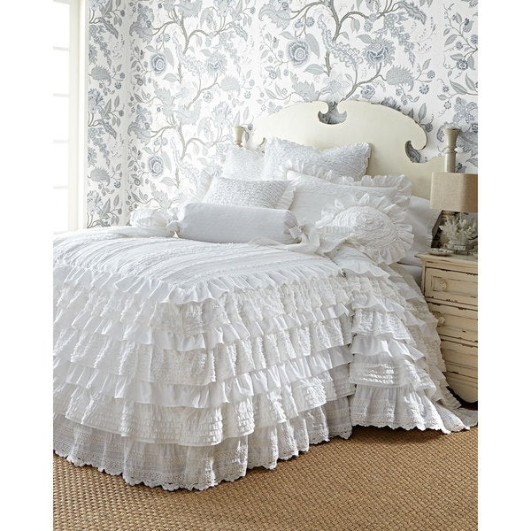 Elana White Cotton Bedspread