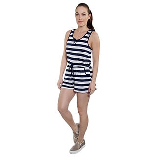 Special One Women's Stripe Romper Shorts with Strings and Pockets