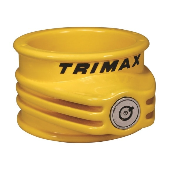 Trimax TFW55 Ultra Tough 5th Wheel Trailer Lock Yellow