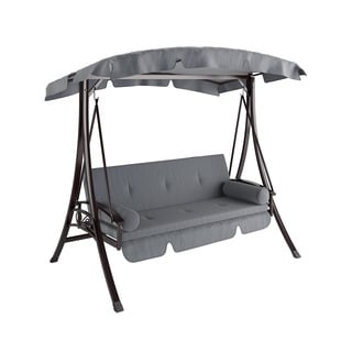 CorLiving Nantucket Charcoal and Grey Daybed Patio Swing