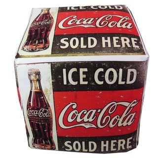 ArtHouse Innovations Vintage Coca Cola Cube 18x18 Ottoman Box