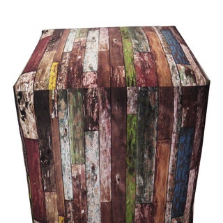 ArtHouse Innovations Old Wood Paint Cube 18x18 Ottoman Box