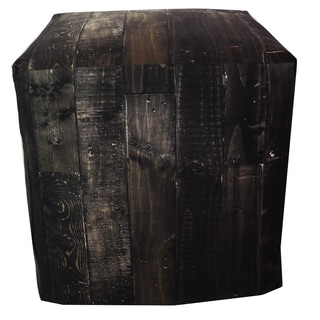 ArtHouse Innovations Dark Wood Cube 18x18 Ottoman Box
