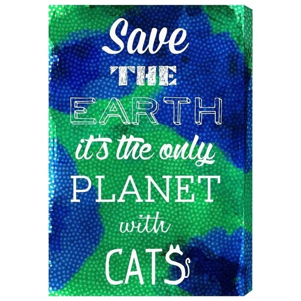 'Cat Planet' Canvas Art