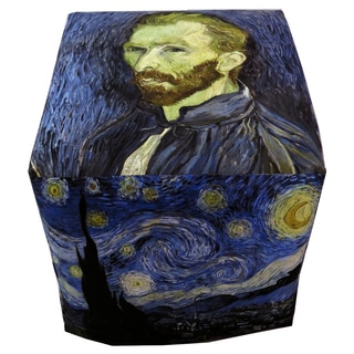 ArtHouse Innovations Vincent van Gogh Cube 18x18 Ottoman Box