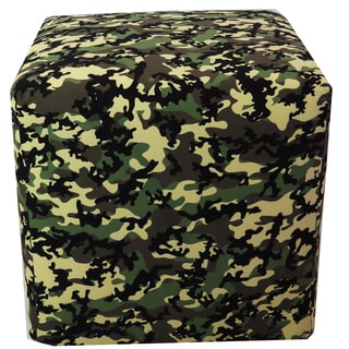 ArtHouse Innovations Camo Pattern Cube 18x18 Ottoman Box