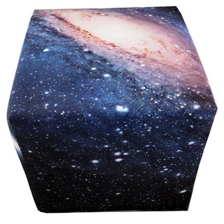 ArtHouse Innovations Milky Way Galaxy Cube 18x18 Ottoman Box