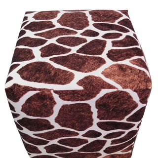 ArtHouse Innovations Giraffe Pattern Cube 18x18 Ottoman Box