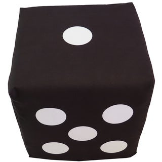 ArtHouse Innovations Dark Grey Dice Cube 18x18 Ottoman Box