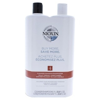 Nioxin System 4 33.8-ounce Cleanser & Scalp Therapy Conditioner Duo