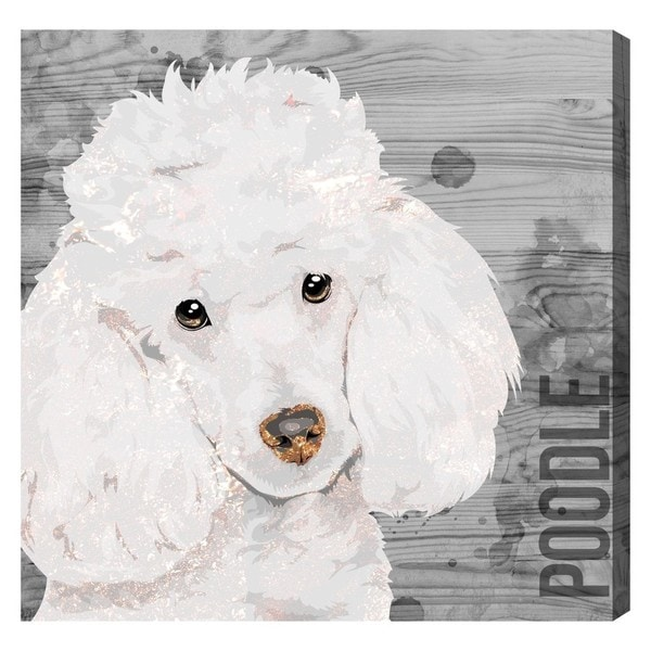 Oliver Gal 'Love My Poodle' Canvas Art